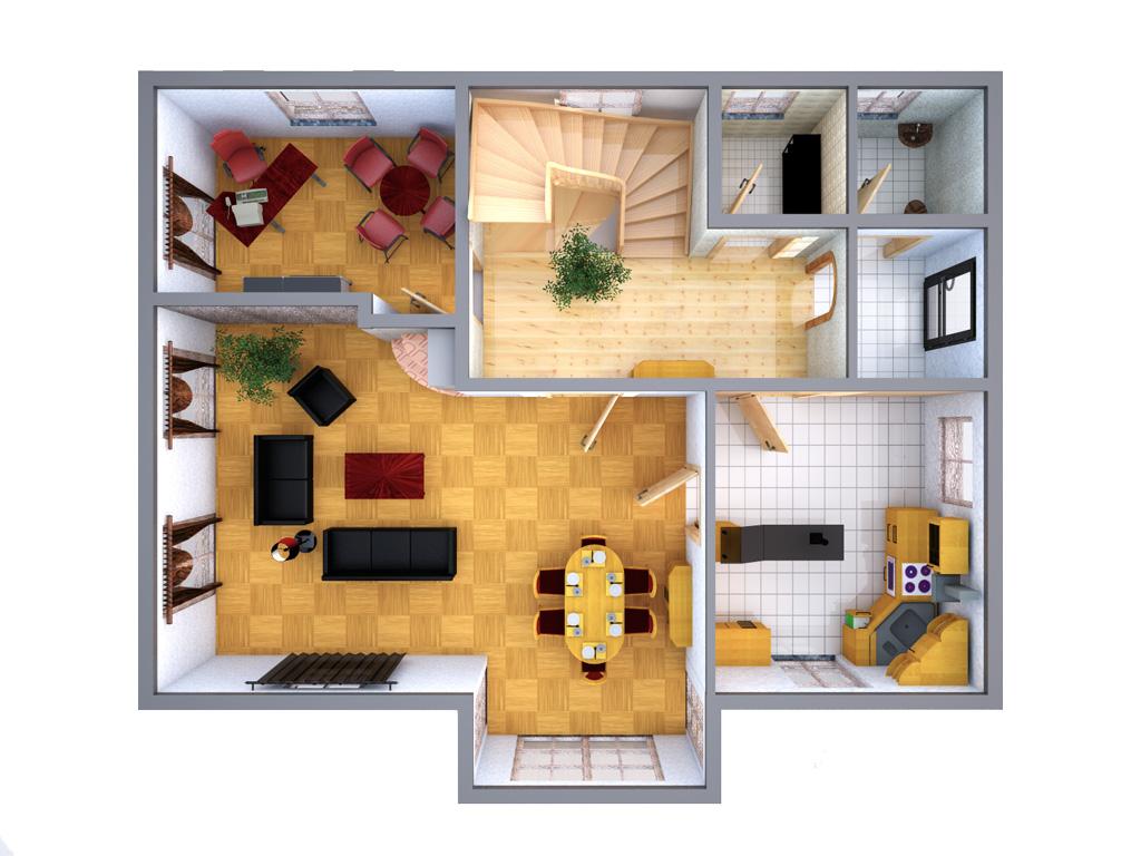 3d grundrisse architekturvisualisierung. Black Bedroom Furniture Sets. Home Design Ideas