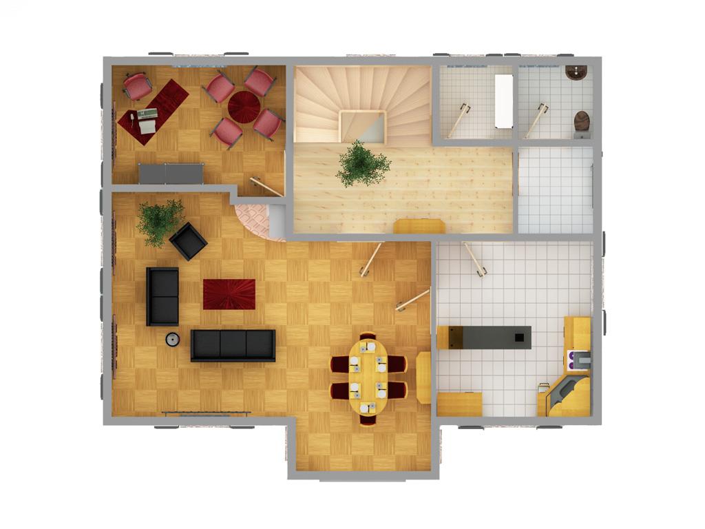 2d grundrisse oben visualisierung architektur